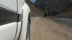 Driving through the Wakhan Valley Stock Footage