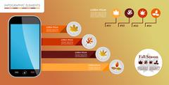 Autumn, fall season infographic elements graphics template. Stock Illustration