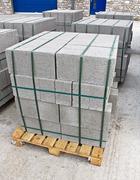 pallet of breeze blocks - stock photo