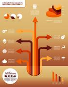 Fall season infographic elements autumn graphics template. Stock Illustration