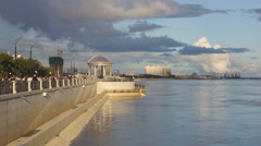 Russian City of Blagoveshchensk Embankment 08 Stock Footage