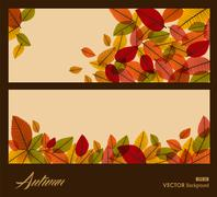 Autumn transparent leaves. fall season background. eps10 file. Stock Illustration