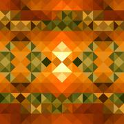 Fall season triangle seamless pattern background. eps10 file. Stock Illustration