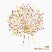 Colorful transparent leaves. fall season background. eps10 file. Stock Illustration