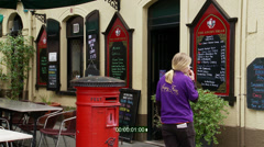 Postbox at the Angry Friar Pub,  Stock Footage