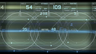 Stock Video Footage of Radar GPS screen display,computer game navigation interface.