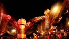 Carnival by night  timelapse luna park - stock footage