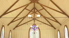 INTERIOR LITTLE CHURCH - stock footage