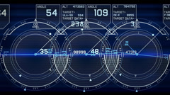 Radar GPS screen display,computer game navigation interface. Stock Footage