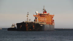 Gas and Oil Tanker Stock Footage