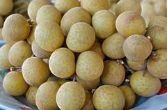 Fresh sweet longan thai fruit yummy Stock Photos