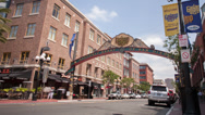 Stock Video Footage of Gaslamp sign timelapse
