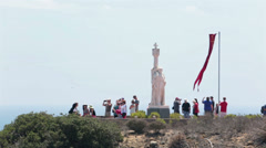 Cabrillo National Monument statue San Diego HD 9184 Stock Footage