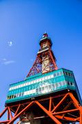 sapporo tv tower in sapporo japan5 - stock photo