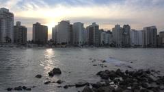 Guaruja Beach - Sao Paulo - SP Stock Footage