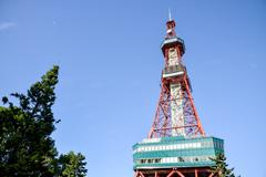 sapporo tv tower in sapporo japan2 - stock photo