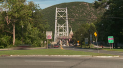 Bear Mountain Bridge Toll Plaza Traffic Timelapse 1 Stock Footage