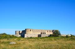 borgholm castle ruin, sweden - stock photo