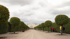 Rundale Palace alley Stock Footage