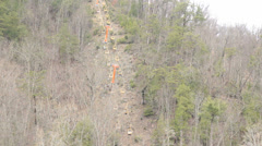 Gatlinburg TN chairlift Stock Footage