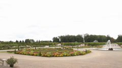 Rundale palace garden Stock Footage