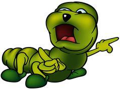 Green Cutworm Stock Illustration
