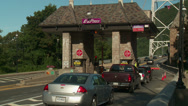 Bear Mountain Bridge Toll Plaza Traffic 5 Stock Footage