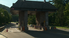Bear Mountain Bridge Toll Plaza Traffic 6 - stock footage