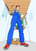 home improver - stock illustration