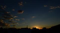 Timelapse of segur de calafell cloudy sunrise 04 Stock Footage
