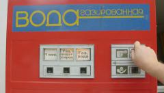 Retro Soviet Soda Vending Machine Stock Footage