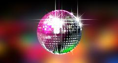 Stock Illustration of colorful glinting disco ball