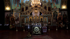 Stock Video Footage of Christian Orthodox Church attributes