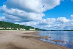 Pinega river in arkhangelsk region Stock Photos