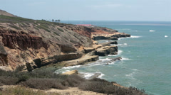 Pacific Ocean Loma Point Cabrillo San Diego HD 9198 Stock Footage