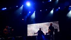 concert Stage Lights Heavy Metal band - stock footage