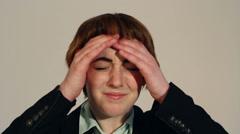 Migraine Stock Footage