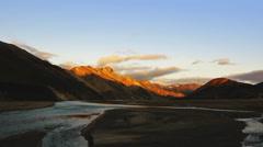 landmannalaugar sunset far - stock footage
