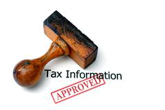 Tax information - approved Stock Photos
