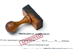 premarital agreement - stock photo