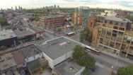 Stock Video Footage of Urban Intersection Toronto with streetcar