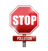 Stop pollution road sign illustration design Stock Illustration