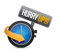 hurry up watch message illustration - stock illustration