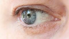 Closeup of female eye Stock Footage