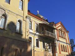new aphon monastery. orthodox church. abkhazia republic - stock photo