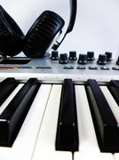 Synth and Headphones Stock Photos