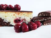 Stock Photo of Cherry Cake with Cherries and Chocolate