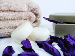 Purple Spa Treatment Stock Photos