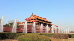 The Tiananmen,entrance of he Forbidden City - stock footage