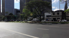 Street of Sao Paulo City Stock Footage